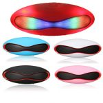 Wireless Bluetooth Colorful LED Rugby Design Handsfree Portable Stereo Speaker