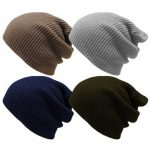 Unisex Outdoor Warm Winter Solid Knit Ski Cap Hat Cap Hiking Camping