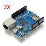 3Pcs Geekcreit Ethernet Shield Module W5100 Micro SD Card Slot For Arduino UNO MEGA 2560