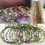 Bride Headband Flower Boho Women Lady Girl Floral Festival Wedding Garland Hair Head Band