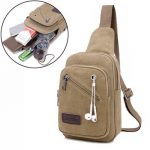 Men Canvas Retro Multifuntional Outdoor Cycling Shoulder Crossbody Bag