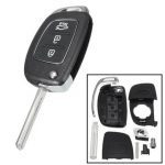 Car Remote Key Case Fob 3 Button Flip Key Shell Left Fold for Hyundai Santa Fe 13-14 PG180A