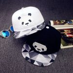 Unisex Women Men Panda Pattern Baseball Cap Adjustable Flat Snapback Hat