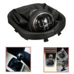 5 Speed Gear Shift Knob Gearstick Gaiter Boot For VW Touran Caddy MK2 Leather