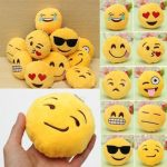 15PCS 8CM Cute Individuality Emoji Expression Keyrings Plush Key Chains