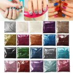 24 Colors Laser Fine Glitter Nail Art Powder DIY Decoration Dust