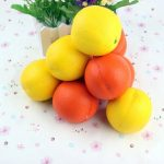 7.7CM Simulated Orange Soft Pendant Fruit Fun Toys Soft Gift