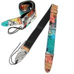 Guitar Strap Abstract Color PU Leather For Electric Bass