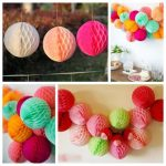 "25CM 10"" Tissue Paper Pom Poms Honeycomb Ball Lantern Wedding Party HomeTable Decor"