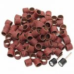 100pcs 80/120 Grit 1/2 Inch Sanding Sandpaper Sleeves with 2 Sanding Drum Mandrels