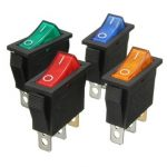 3 Pins ON/OFF Rocker Switch with Snap-In LED