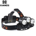 XANES XQ-114 800 Lumens T6 2XPE Red LED Red Laser Bicycle Headlight Outdoor Sports 4 Modes Adjustable Headlamp