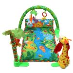 Rainforest Musical Baby Infant Activity Gym Floor Crawl Playmate Bedding Butterfly Grasp Kick Toys