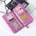 Multifunctional Leather Phone Bag Wallet Case Card Holder Case Purse for iPhone Samsung Xiaomi