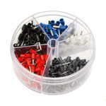 400Pcs Copper Insulated Terminal Grey Yellow Red Blue Cord End Terminal Round Box