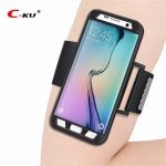 C-KU Armband Arm Bag Sweatproof Shockproof Sports Cover Protective Case for Samsung Galaxy S7 Edge