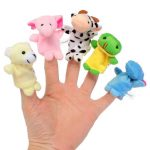 10pcs Double Animal Finger Plush Toy Dolls Telling Story Helper Kids Children Gift