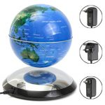 6 Inch Magnetic Levitation Floating Globe World Map Tellurion Blue Gift Decor