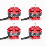 4X Racerstar Racing Edition 1103 BR1103B 8000KV 1-3S Brushless Motor Red For 50 80 100 Mini Frame