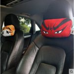 WenTongZi Chinese Facial Makeup Headrest Car Front Seat Headrest Pillow