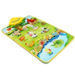 Baby Children Farm Animal Music Sound Touch Play Singing Gym Carpet Mat Toy Gift