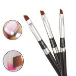 1pc Oblique Head Nail Art Brush Pen DIY Design 5Pcs Art Acrylic UV Gel Painting