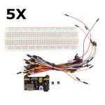 5Pcs Geekcreit MB-102 MB102 Solderless Breadboard Power Supply Jumper Cable Kits For Arduino