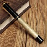 BAOER 507 Black Brass Gold Eight Horses Fountain Metal Pen Writing Instrument