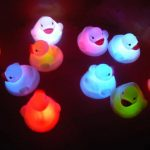 1Pcs Mini Baby Kid Bath Toy Flashing Lovely LED Changing Duck Light Lamp Multi Color Shower Playmate