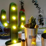 Battery Operated 3W Green Cactus LED Night Light for Home Garden Party Christmas Decorative