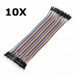 10Pcs 40P 20cm Male to Male Color Breadboard Cable Dupont Wire Jumper