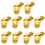 10 PCS Realacc 45 Degree Antenna Adpater Connector SMA RP-SMA For RX5808 Fatshark Goggles