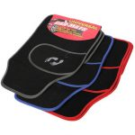 Universal 4pc Front Rear PVC Car Van Floor Mat Carpet Non-Slip GRIP Feet Pattern