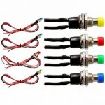 12V Resettable SPST Push Button N/OFF Switch For Motor Auto Dash Horn