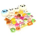 18PCS Random Panda Cupcakes Toasts Buns Donuts Squishy Soft Cell Phone Straps
