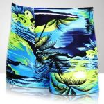 Men Coconut Palm Printing Swimming Trunks Sports Shorts Inner Boxers Swimwear