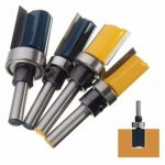 1/4 Inch Shank Cutter Router Bit Trimming Woodworking Milling Cutter Dual Blades