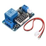 12V LED Display Digital Programmable Timer Timing Relay Module Self-lock Switch