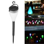 Outdoor 7 Color Changing LED Solar Light Hanging Garden Path Landscape Christmas Lamp
