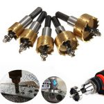 Drillpro 5pcs HSS 6542 Titanium Coated Hole Saw Tooth HSS Hole Saw Cutter Drill Bit Set 16/18.5/20/25/30mm