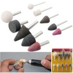 10pcs 1/4 Inch 1/8 Inch Mounted Stones Grinding Abrasive Stone Assortment for Dremel