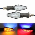 12V Motorcycle 12LED 3 Colors Blinker Dual Color Turn Signal Indicator Light