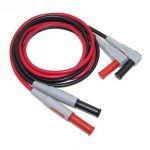 P1033 Silicone Wire Multimeter Test Cable Injection Molded 4mm Banana Plug Test Line Straight to Curved Test Cable
