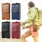 Floveme Vertical Storage Waist Bag Pocket Pouch With Buckle For 5.5-inch Smartphone