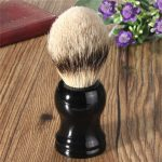 Men's Badger Hair Bristle Shaving Brush Face Barber Tool Black Resin Handle