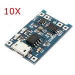 10Pcs USB Lithium Battery Charger Module With Charging And Protection
