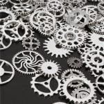 60-70Pcs Steampunk Altered Art Craft Cyberpunk Gear Wheels Decoration Part