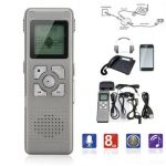 8GB Digital Dictaphone Telephone Voice Sound Recorder Rechargeable MP3 Player