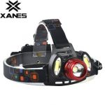 XANES 2305 800 Lumens T6 2xCOB LED Bicycle Headlight Mechanical Zoom Outdoor Sports HeadLamp 4 Modes Adjustable Head Light
