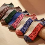 Men Cotton Thread Color Boat Socks Shallow Mouth Matching Ankle Thick Socks
